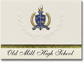 Signature Announcements Old Mill High School (Millersville, MD) Graduation Announcements, Presidential style, Elite packag...