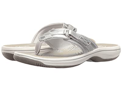 Clarks Breeze Sea (Silver Metallic) Women
