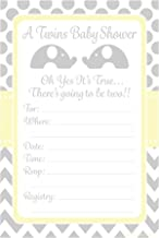 Best twin baby shower invitations elephants Reviews