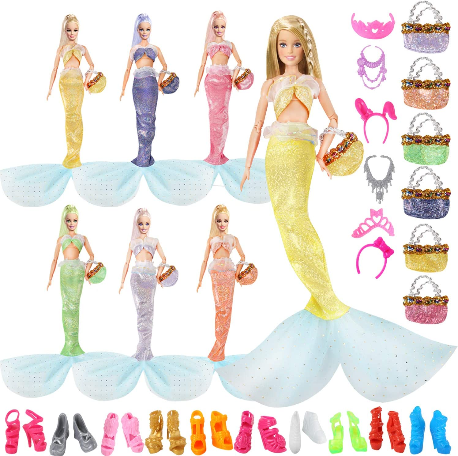 OUFOTAT Mermaid Doll Clothes and 11.5 famous Barbi Accessories Inch Branded goods for