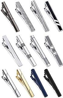 YADOCA 12 Pezzi Set di Fermacravatta per Uomo Metallo di Rame Classico Clip per Cravatta Nozze attività Commerciale