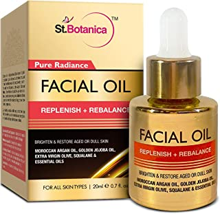 StBotanica Pure Radiance Facial Oil Replenish + Rebalance, 20ml - Brighten & Restore Aged or Dull Skin