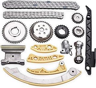 PUENGSI Engine Timing Chain Kit Tensioner Crank Sprocket Shaft Sprocket Splacket Rail Replalace مناسب برای 2011-2015 Buick LaCrosse / Regal / Verano 2006-2010 Chevy Colbat 2012-2015 Captiva Sport 2.4L L4