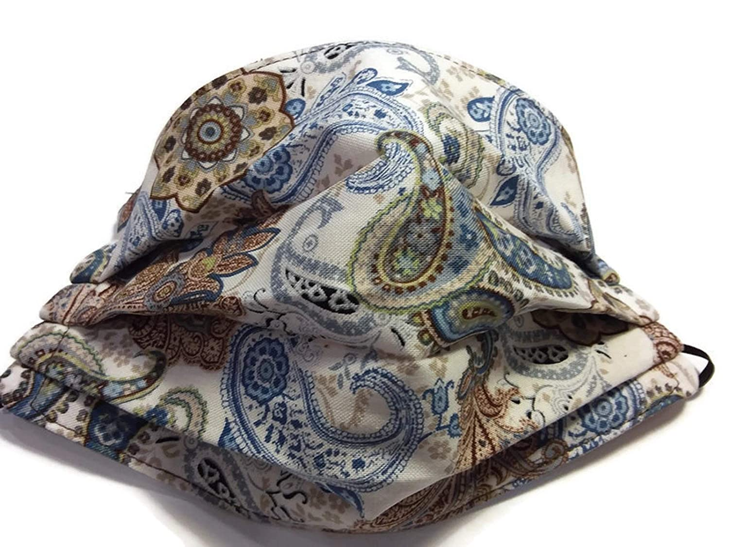 Blue and Brown Online limited product Paisley Fixed price for sale Mask Print Cotton Face