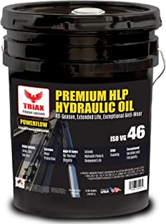 TRIAX POWERFLOW HLP ISO 46 Medium Hydraulic Oil | 6000 Hr Extended Life | Double Anti-Wear | True All Season | - 40 F Pour Point (5 GAL)