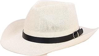 Hat Summer Men's Western Cowboy Visor Sunscreen Grass Yarn Cool Cap Generation