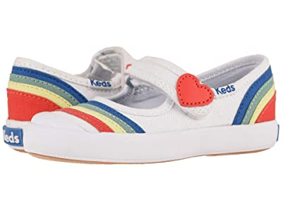 Keds Kids Harper (Toddler/Little Kid) (White/Rainbow) Girl
