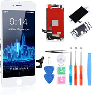 """CYKJGS for iPhone 8 Screen Replacement White LCD Screen Digitizer 3D Touch 4.7"""" Display iphone 8 Screen Repair Kit with Te..."""