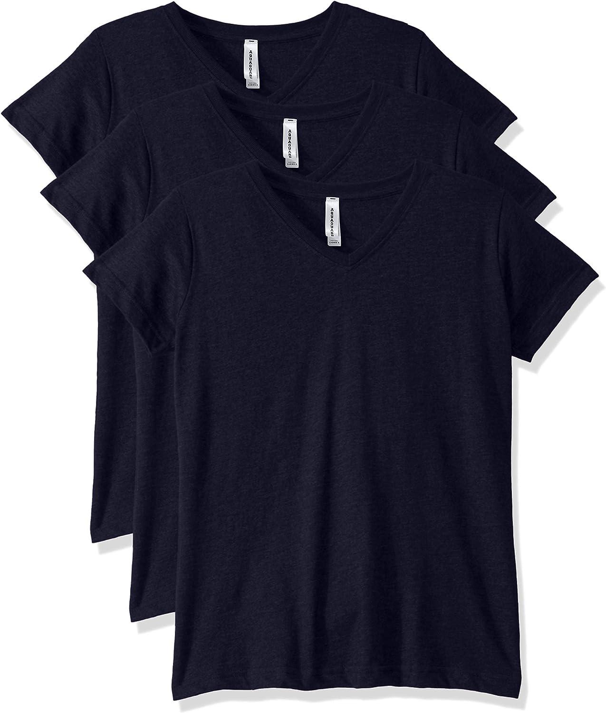 AquaGuard Womens Combed Ringspun V-Neck T-Shirt-3 Pack