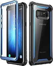 i-Blason Funda Galaxy Note 8 [Ares] 360 Grados Carcasa Completa con Protectores de Pantalla Incorporados para Samsung Galaxy Note 8 (2017) Azul