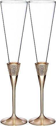 39add9b74c40 Amazon.com: Yellow - Champagne Glasses / Wine & Champagne Glasses ...