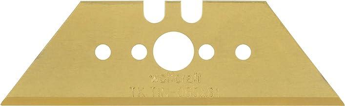Wolfcraft 4173000 5x professionella trapetsblad i förvaringslåda TiN 0, 65 x 61 mm