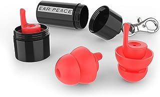 EarPeace Tapones de Oídos de Seguridad - Reducción de Ruido y Protección de Audición de Alta Fidelidad para Proyectos, Construcción y Ambientes de Ruidos Altos (Standard, Black Case)