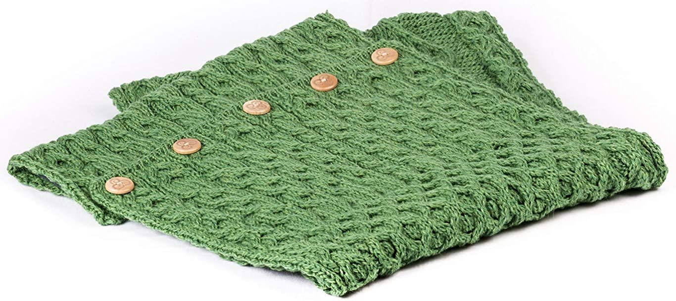 Wool Irish Snood Scarf with Buttons