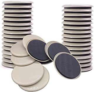 NEPAK 24 pcs 3.5 inches Furniture Sliders,Furniture Moving Kit for Carpeted and Hard Floor Surfaces Felt Pads,Reusable