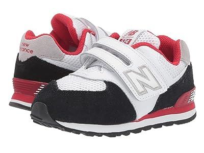 New Balance Kids 574 Summer Sport (Infant/Toddler) (Black/Team Red) Boys Shoes