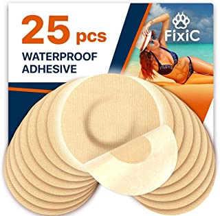 Fixic Freestyle Adhesive Patch 25 PCS – Good for Libre – Enlite – Guardian – NO Glue in The Center of The Patch – Pre-Cut ...