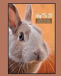 Hop To It! Cutest Baby Bunny Rabbit Sketchbook Journal Notebook