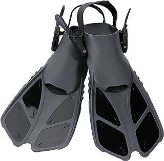CAPAS Snorkel Fins, Swim Fins Travel Size Short Adjustable for Snorkeling Diving Adult Men Womens Kids Scuba Open Heel Swimming Flippers