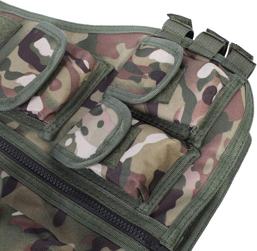 Chaleco de Camuflaje Militar para ni/ños Chaleco para ni/ños para Juegos al Aire Libre EBTOOLS Chaleco de Nylon