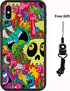 MAYCARI Monsters Phone Case for iPhone 7 Plus/8 Plus, Funky/Cool/Funny Cartoon Cute Exaggerated Comic iPhone Case Hybrid Hard PC + Soft TPU Bumper Frame [Anti-Scratch] [Anti-Finger] Protective Cover