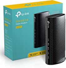 TP-Link TC-7610 DOCSIS 3.0 (8x4) Cable Modem. Max Download Speeds Up to 343Mbps. Certified for Comcast XFINITY, Spectrum, Cox, and more. Separate Router is Needed for Wi-Fi