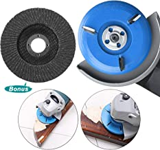 BLIKA 90mm Diameter 16mm Bore Blue Power Wood Carving Disc Woodworking Angle Grinder Attachment, Three-Tooth Milling Cutter with Sanding Grinding Wheel
