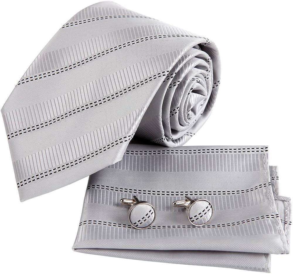 Epoint Men's Fashion Formal Wear Classic Silk Tie Set
