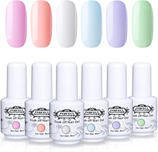 Perfect Summer Semi-permanent Gel Polish 6 Colors Gel Nail Soak Off UV LED Manicure Elegant Collection Nail Set 8ML 035