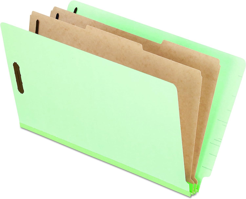 ordenar ahora Extra-Hvy Pressboard End Tab Folders, Legal, Six-Section, Pale verde, verde, verde, 10 Box  alta calidad
