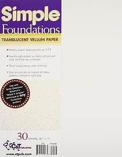 Simple Foundations Translucent Vellum Paper