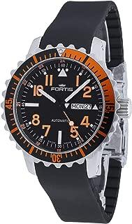Fortis Hombre Reloj de Pulsera aquatis Marino Master Day/Date Naranja Fecha Día de la Semana analógico automático 670.19.49 K