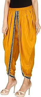 NAVYA CRAFT Mustard Color Rayon Dhoti Pant, Patiala Salwar, Trouser for Women, Girls