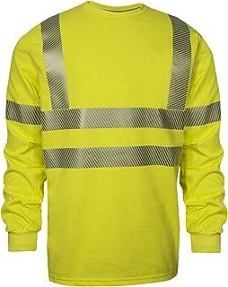 National Safety Apparel C54HYLSC3MD FR Class 3 Long Sleeve T-Shirt, Medium, Fluorescent Yellow