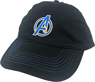a04fc145 Avengers Blue A Logo Baseball Cap Hat Adults Black
