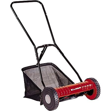 Einhell GC- HM 40 - Cortacesped manual ( altura de corte 15-35 mm , ancho de corte 40cm, hasta 250m² de jardín, 27L de capacidad de bolsa) (ref.3414127)