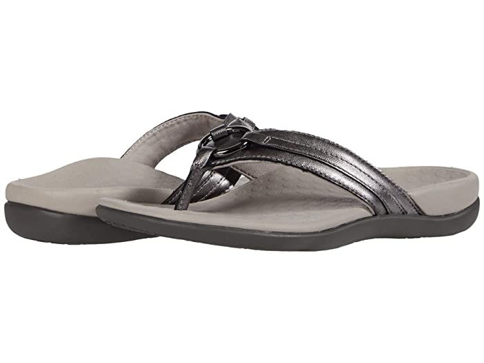 VIONIC  Aloe Leather (Pewter) Womens Shoes