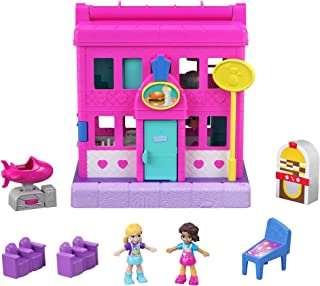 Polly Pocket Mattel Pollyville Diner, Multicolor