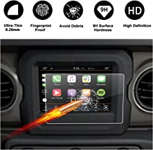 2018 Jeep Wrangler JL Uconnect Touch Screen Protector, R RUIYA HD Clear Tempered Glass Protective Film Against Scratch High Clarity (7-Inch)