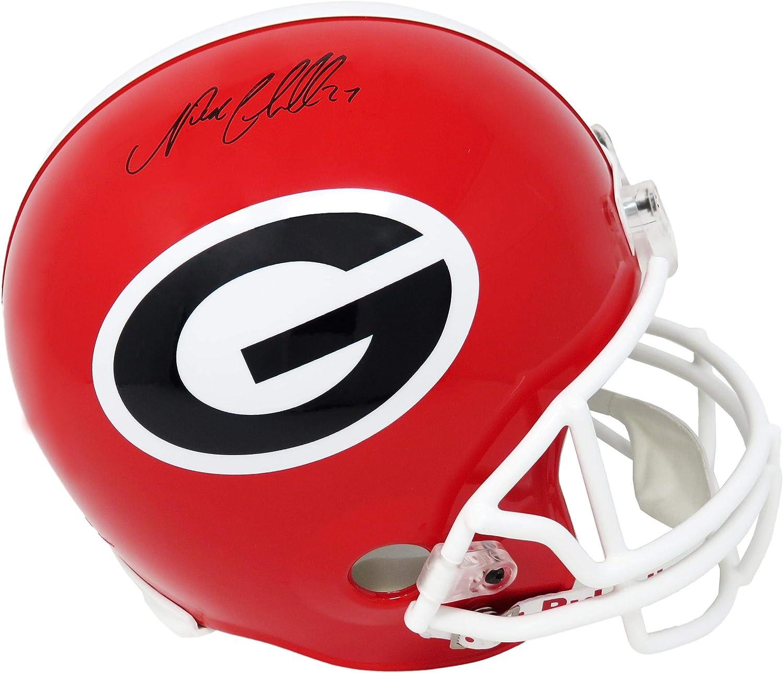 Nick Chubb Signed Georgia Bulldogs Riddell Full Size Replica HelmetAutographed College Helmets