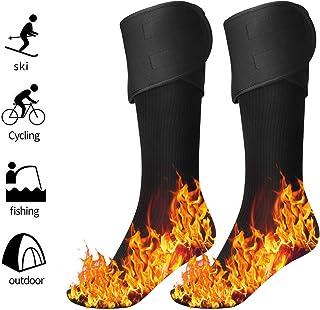 pedkit Aquecedores de pés com meias aquecidas elétricas para homens e mulheres, movidos a bateria recarregável, meias de a...