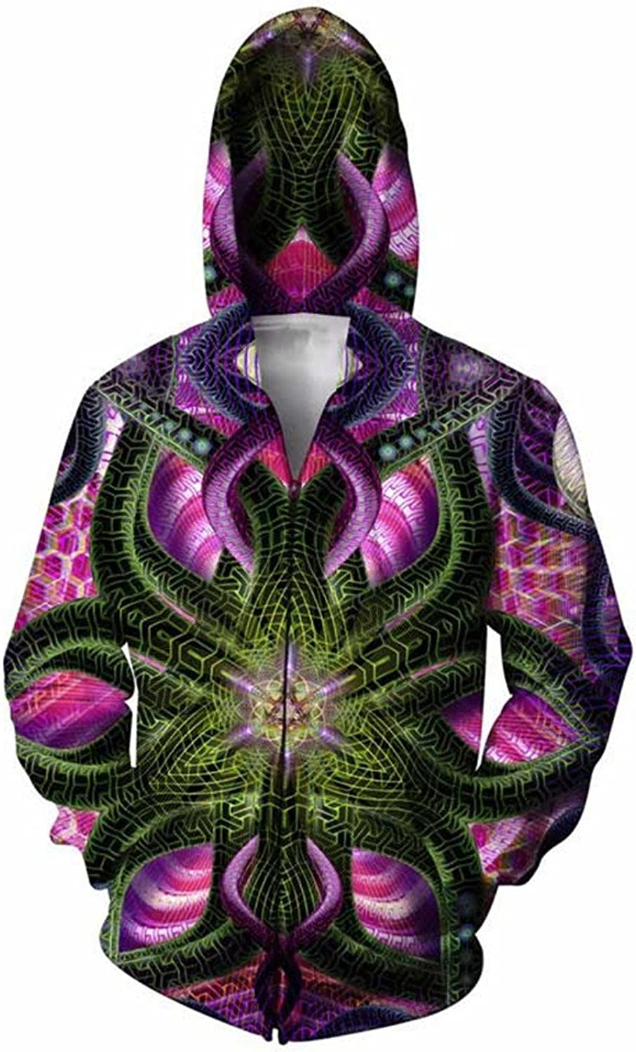 KovLee Double Sided Hoodie psychedelic colorful geometric shapes 3d Print Outfits Women Men Hoodies Zipper Sweatshirts Tops