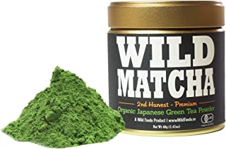 Organic Matcha Green Tea From Japan, Wild Matcha, Ceremonial Grade, JAS Organic (40 gram - 2nd Harvest Premium)