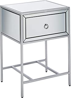 Christopher Knight Home Athena Mirrored Silver 1 Drawer Side Table