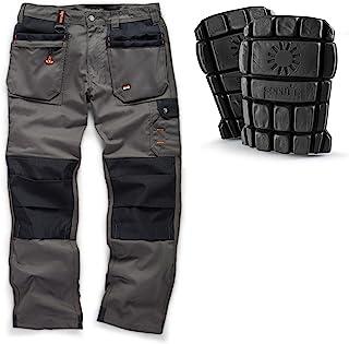 "Scruffs Worker Plus Work Trousers and Hardwearing Kneepads (32"" Waist x Regular Leg) Graphite Grey"