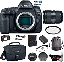$2923 Get Canon EOS 5D Mark IV Digital SLR Camera with 24-105mm f/4L II Lens - Bundle with UV Filter + Canon Carrying Bag + Cleaning Kit + More (International Version)