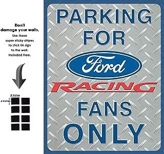 Shop72 - Tin Sign Ford Racing Parking Vintage Tin Sign Retro Metal Sign