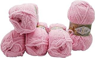 Alize Softy Plus Lot de 5 pelotes de laine à tricoter pour bébé 100 g avec peluche légère (rose 185)