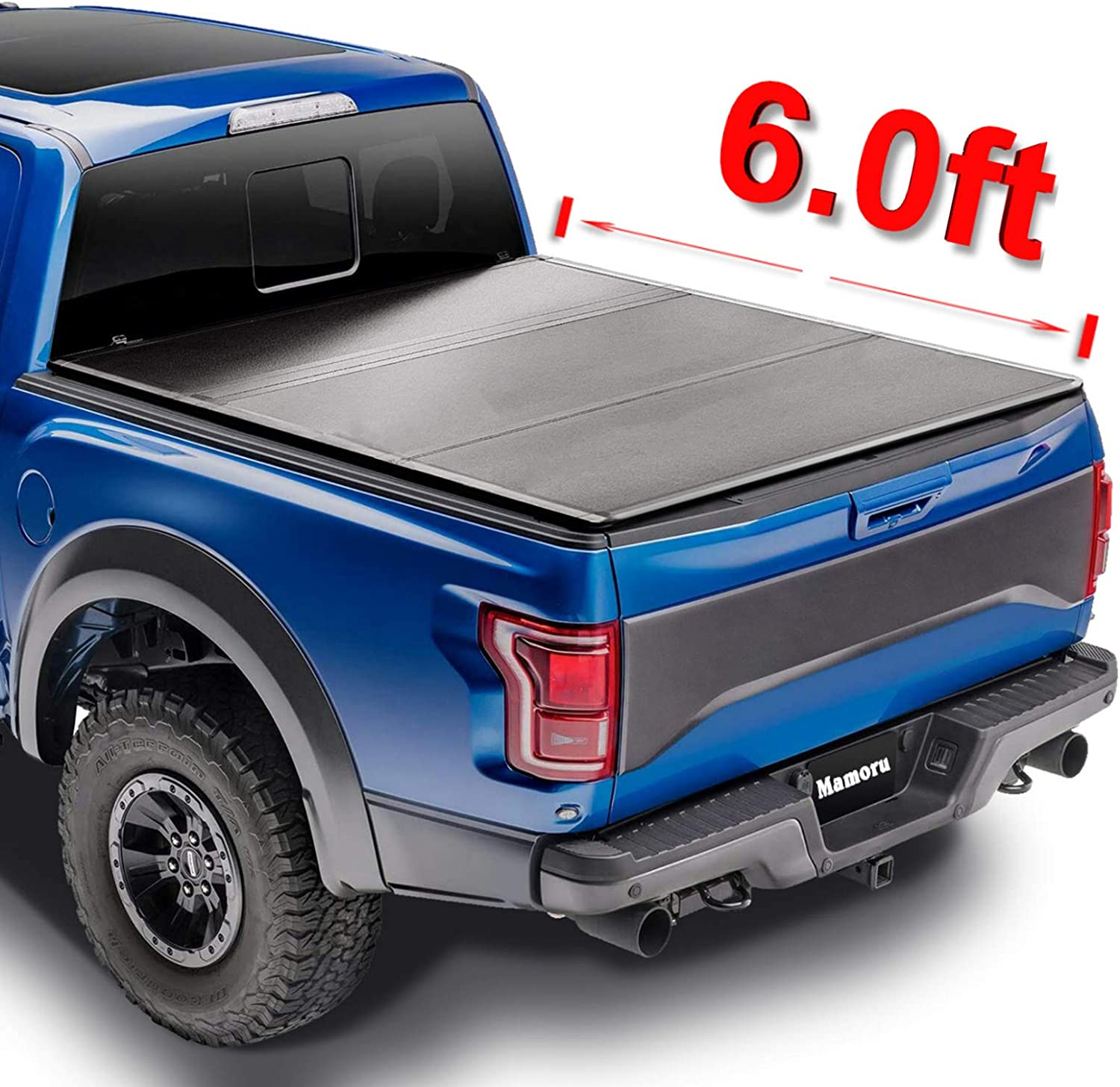 Mamoru Free shipping Hard sale Tri-Fold 6ft Truck Bed Ford Cover For 2019-2021 Rang