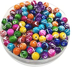 6mm 20mm Round Shape Beads Jewelry Making Acrylic Beads Multicolor Loose Bead Jewelry DIY Accessory #YKL28 35,16mm-10pcs